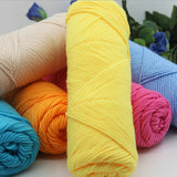 Soft Cotton-Blend Yarn in 20 Colors