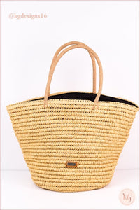 Always On Vacay Natural Straw Embroidered Beach Bag Tote