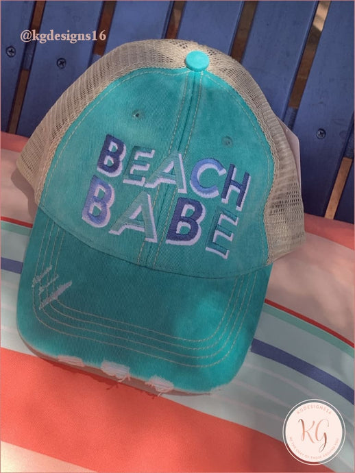 Beach Babe Embroidered Baseball Trucker Hat