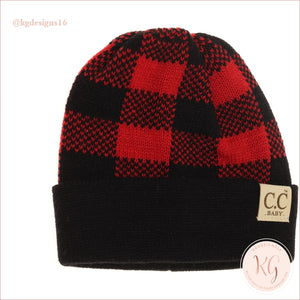 C.c. Beanie Baby Buffalo Check Red & Black