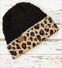 Load image into Gallery viewer, C.c. Beanie Leopard Cuff Hat