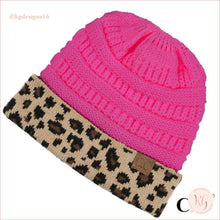 Load image into Gallery viewer, C.c. Beanie Leopard Cuff Hat Candy Pink