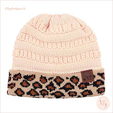 Load image into Gallery viewer, C.c. Beanie Leopard Cuff Hat Indie Pink