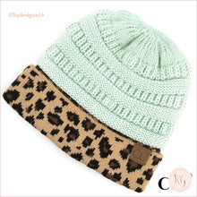 Load image into Gallery viewer, C.c. Beanie Leopard Cuff Hat Mint