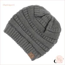 Load image into Gallery viewer, C.c. Beanie The Original Classic Knit Solid Hat Light Gray