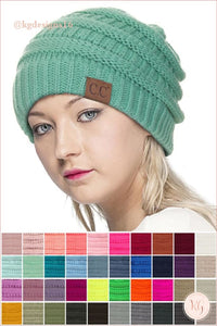 C.c. Beanie Classic Knit Solid Hat
