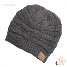 Load image into Gallery viewer, C.c. Beanie The Original Classic Knit Solid Hat Dark Gray