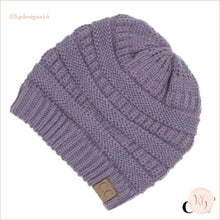 Load image into Gallery viewer, C.c. Beanie Classic Knit Solid Hat Lavender