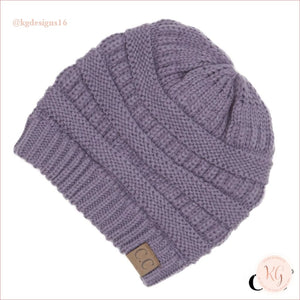 C.c. Beanie Classic Knit Solid Hat Lavender