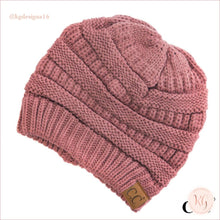 Load image into Gallery viewer, C.c. Beanie Classic Knit Solid Hat Rose