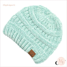 Load image into Gallery viewer, C.c. Beanie Classic Knit Solid Hat Mint