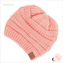 Load image into Gallery viewer, C.c. Beanie Classic Knit Solid Hat Peach