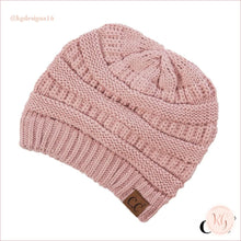 Load image into Gallery viewer, C.c. Beanie Classic Knit Solid Hat Indie Pink