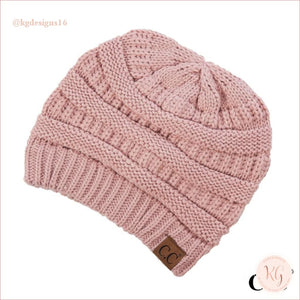C.c. Beanie Classic Knit Solid Hat Indie Pink