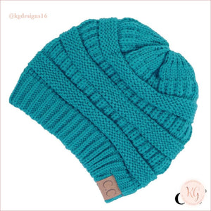C.c. Beanie Classic Knit Solid Hat Teal