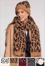 Load image into Gallery viewer, C.c. Beanie Woven Leopard Print Scarf