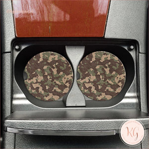 Camouflage Car Coasters