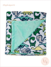 Load image into Gallery viewer, Cutie Pie 2-Pc. Dino Buddy & Blanket Set