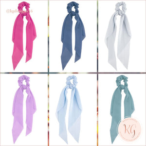 Do Everything With Love Sheer Scrunchie Scarf 6 Colors