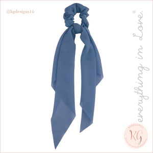 Do Everything With Love Sheer Scrunchie Scarf 6 Colors Blue