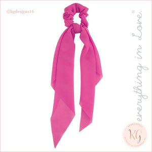 Do Everything With Love Sheer Scrunchie Scarf 6 Colors Fuschia