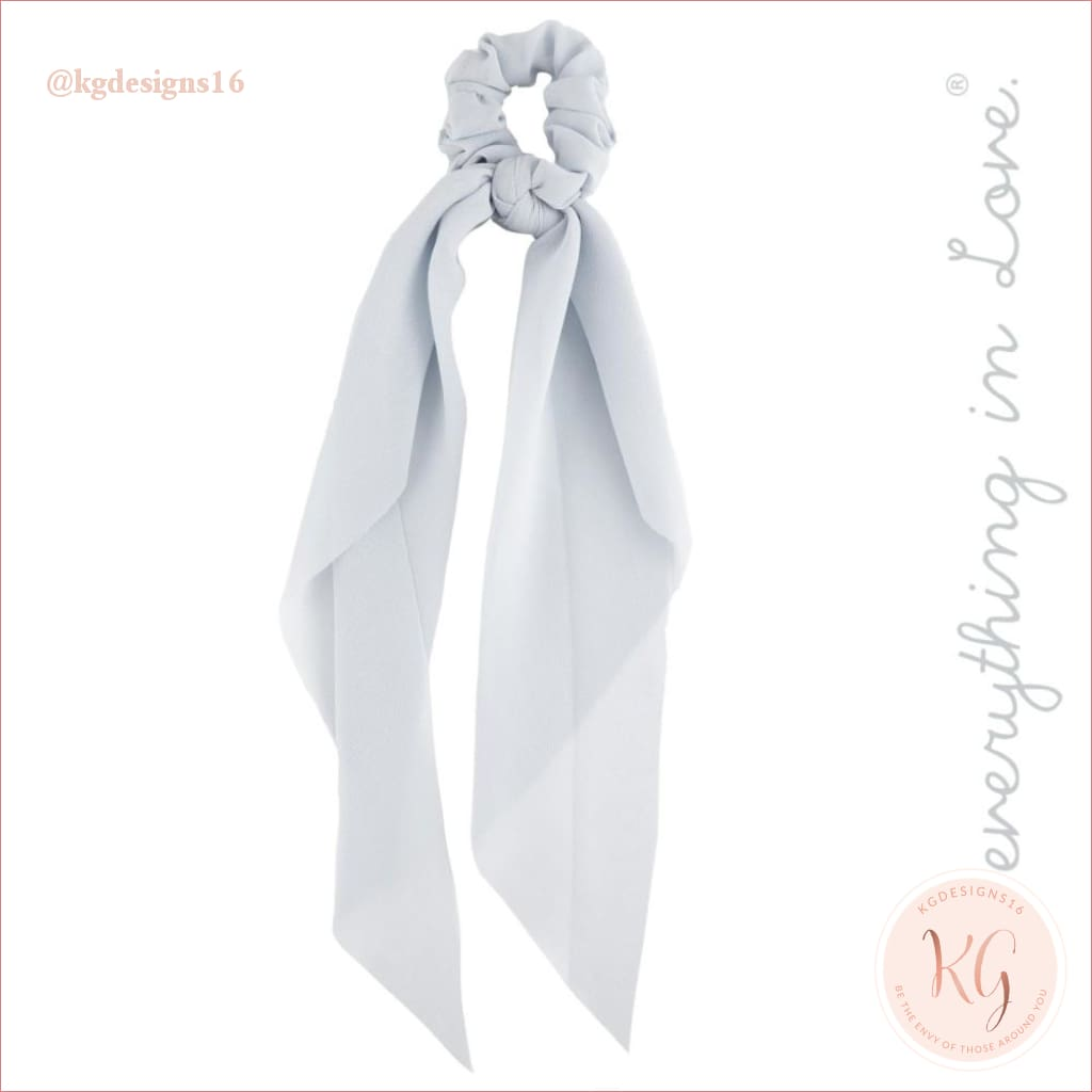 Do Everything With Love Sheer Scrunchie Scarf 6 Colors Grey