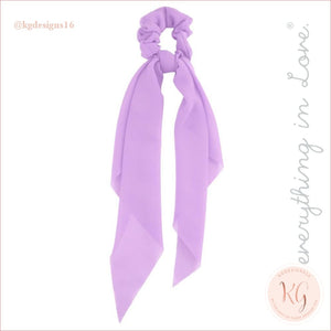 Do Everything With Love Sheer Scrunchie Scarf 6 Colors Lavender