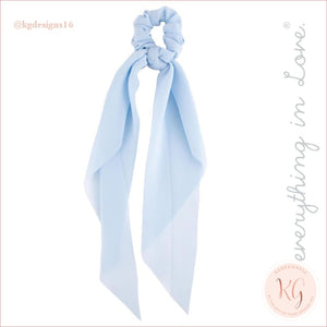Do Everything With Love Sheer Scrunchie Scarf 6 Colors Light Blue