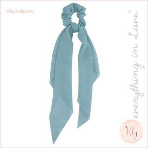 Do Everything With Love Sheer Scrunchie Scarf 6 Colors Mint