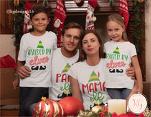 Load image into Gallery viewer, Elf Family Matching Shirts Raised By Elves Mama Papa