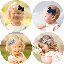 Load image into Gallery viewer, Floral And Solid Hair Clips For Baby And Toddler Girls 10 Pcs Set Linen Roses