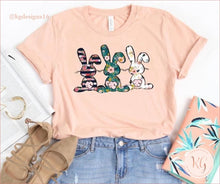 Load image into Gallery viewer, Floral Easter Bunny Bella Canvas Unisex Shirt Clothing
