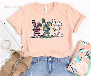 Floral Easter Bunny Bella Canvas Unisex Shirt Clothing