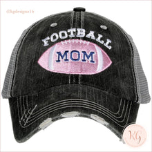 Load image into Gallery viewer, Football Mom Trucker Baseball Hat