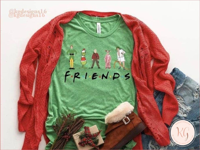 Friends Christmas Buddy Grinch Rudolph Ralphie Unisex Shirt Clothing
