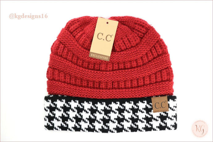 Game Day C.c. Beanie Houndstooth Hat