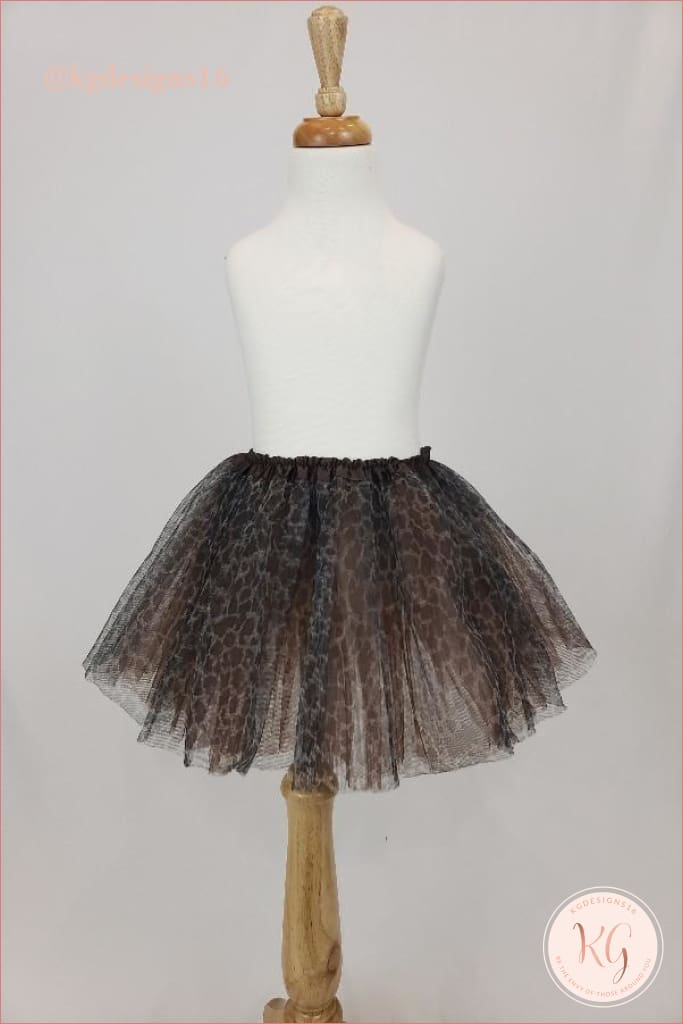 Girls Cheetah Leopard Print Tutu