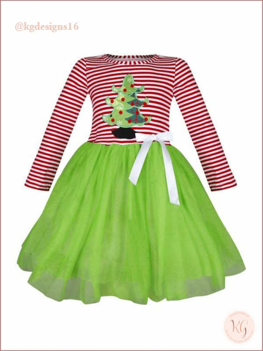 Girls Christmas Tree Tutu Holiday Boutique Dress