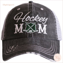 Load image into Gallery viewer, Hockey Mom Distressed Trucker Hats Trucker Hats