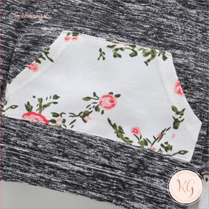 Infant Newborn Girls Floral 2 Piece Hoodie Set