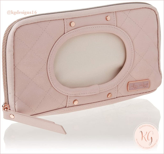 Itzy Ritzy Blush Baby Wipes Travel Case