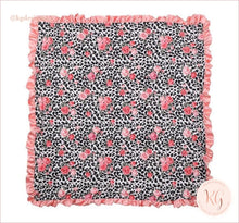 Load image into Gallery viewer, Leopard And Rose Minky Infant Baby Blanket