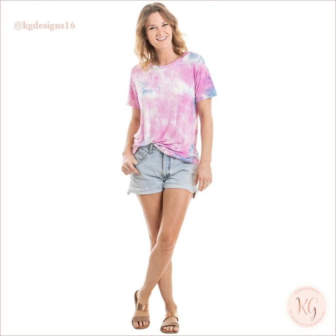 Lilac and Purple Wholesale Tie Dye T-Shirt