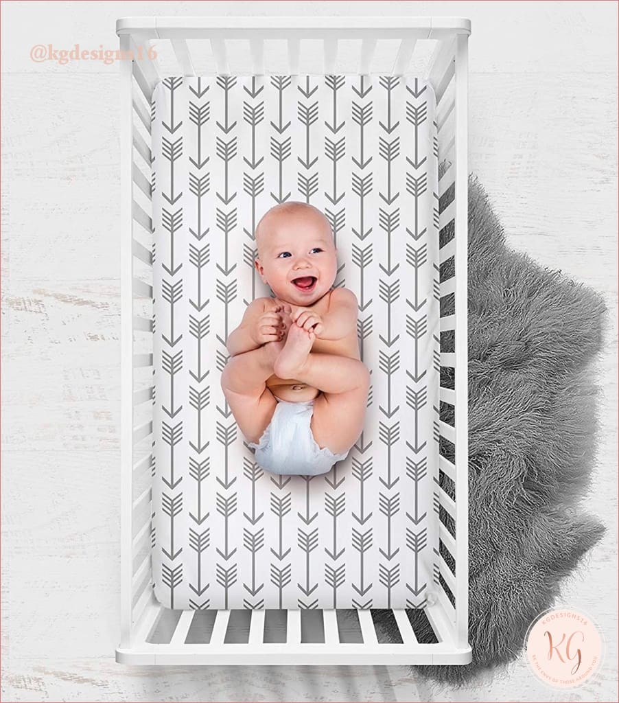 Little Man Arrow Crib Sheet