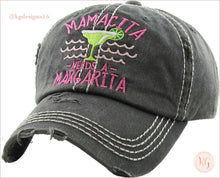 Load image into Gallery viewer, Mamacita Needs A Margarita Distressed Trucker Baseball Hat