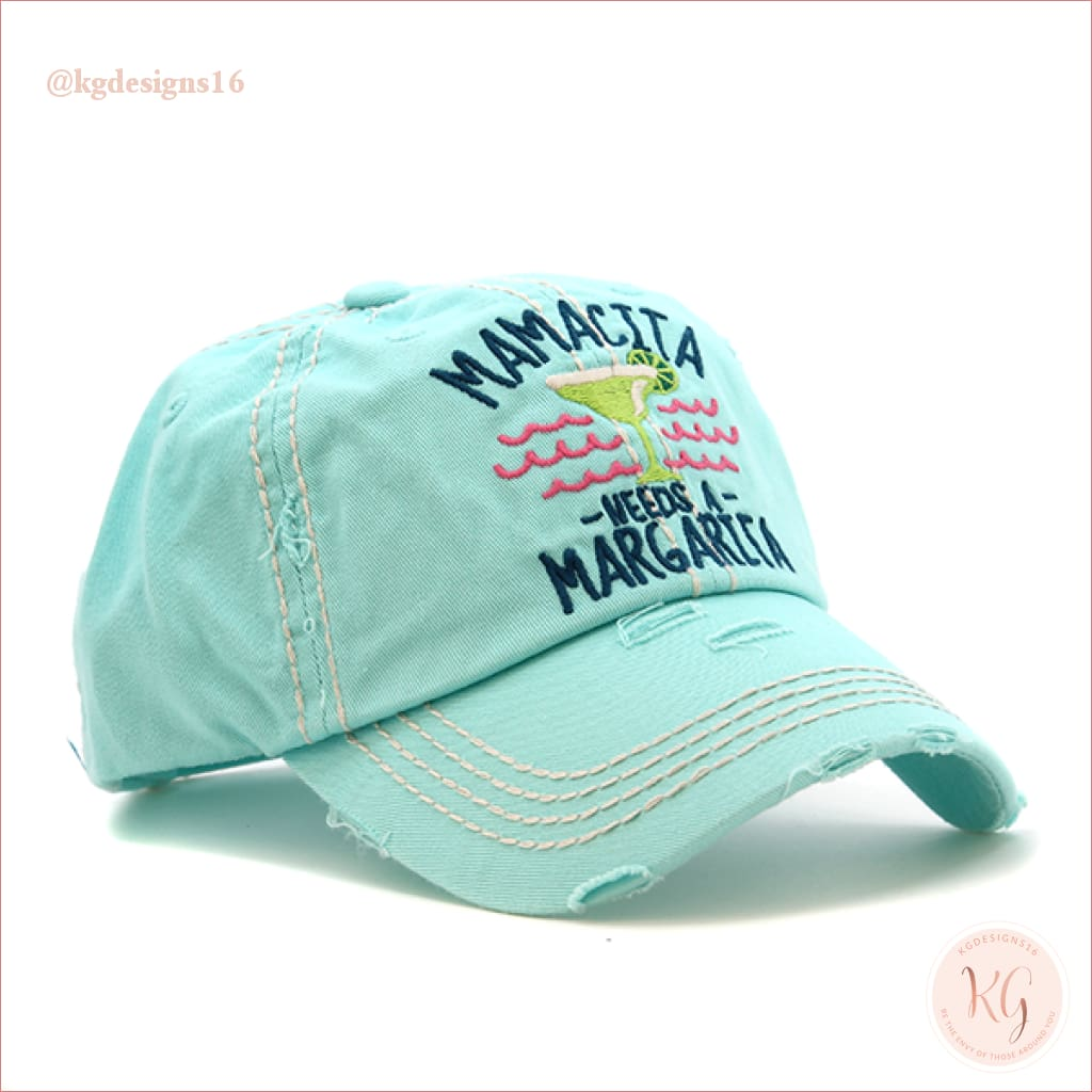 Mamacita Needs A Margarita Distressed Trucker Baseball Hat