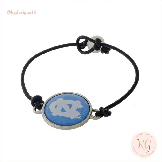 North Carolina Tar Heels Leather Cord Bracelet