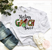 Load image into Gallery viewer, Resting Grinch Face Unisex Sweatshirt Clothing