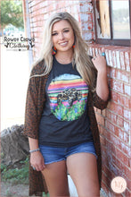 Load image into Gallery viewer, Roam Wild Serape Buffalo Unisex Graphic Tee S-3Xl