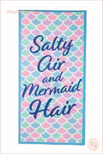 Load image into Gallery viewer, Salty Air And Mermaid Hair Quick Dry Wholesale Beach Towels